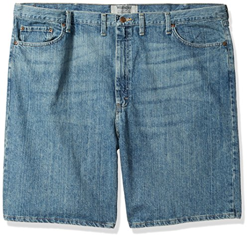 Wrangler Authentics Men's Big & Tall Classic Relaxed Fit Five-Pocket Jean Short, Maritime, 46