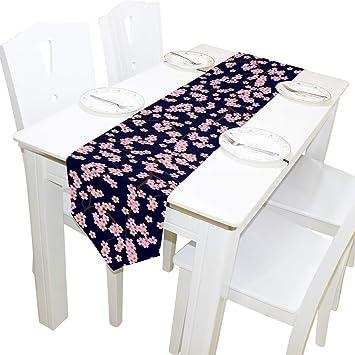 Amazon.com: WOOR Camino de mesa de doble cara japonés Sakura ...