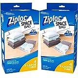 Ziploc 4 count XL Space Bag Closet Storage Organizer Cube Combo, 2-Pack
