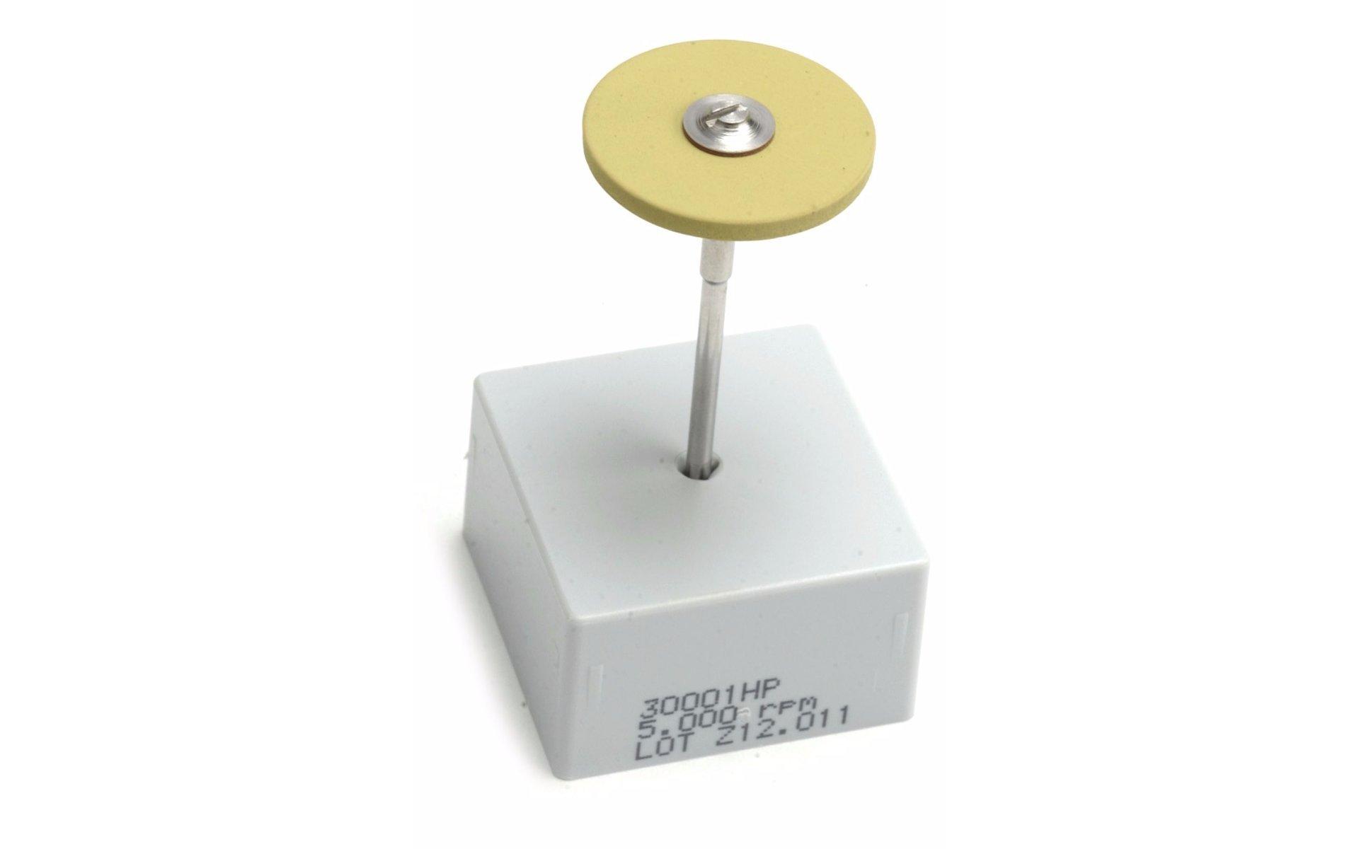 Edenta CeraGloss Yellow Diamond High Polish Round Flat Wheel 25 x 2mm by Paaz Jewelry Supply