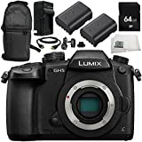Panasonic Lumix DC-GH5 Mirrorless Micro Four Thirds Digital Camera (Body Only) 8PC Bundle – Includes 64GB SD Memory Card + MORE - International Version (No Warranty)