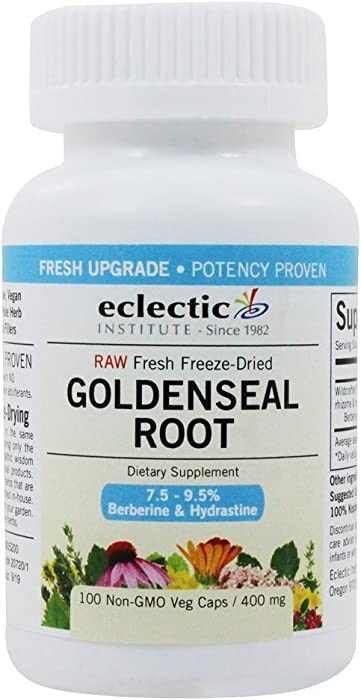 Goldenseal Root 400mg Freeze-Dried Eclectic Institute 100 Caps