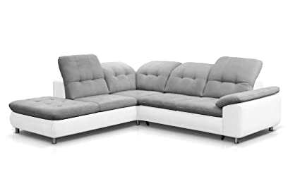 Amazon.com: EQsalon Sofia L-Shaped Beautiful Corner Sectional Sofa ...
