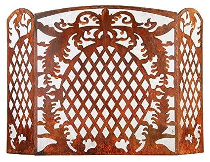 Amazon.com : Esschert Design Laser Cut Sheet Metal Fireplace Screen ...
