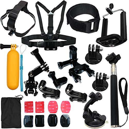 23-in-1 Camera Accessories Kit Bundle Attachments for Gopro Hero 5 4 3 2 1 SJ4000 SJ5000 HD Action Video Cameras DVR by LotFancy