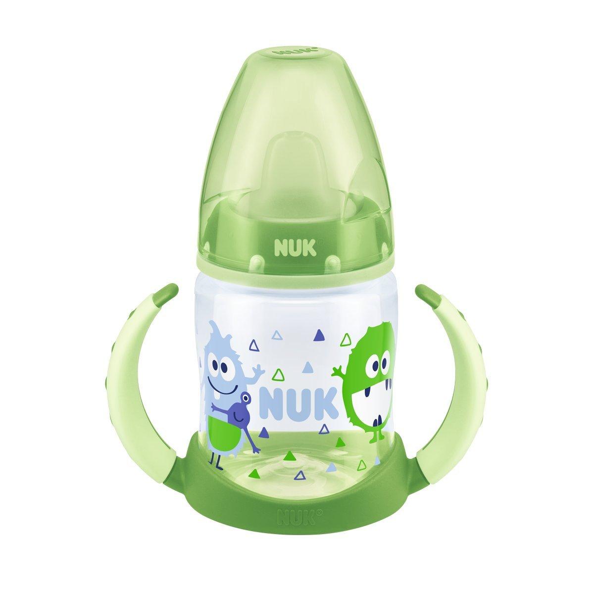 NUK 10215233 First Choice Trinklernflasche ab 6 Monate TPE-Trinkt/ülle beige 150 ml