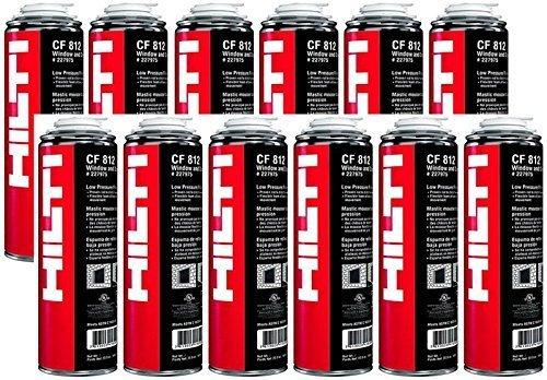 CF812 HILTI Door and Window Minimum Expanding Foam Sealant-12 Cans 227975
