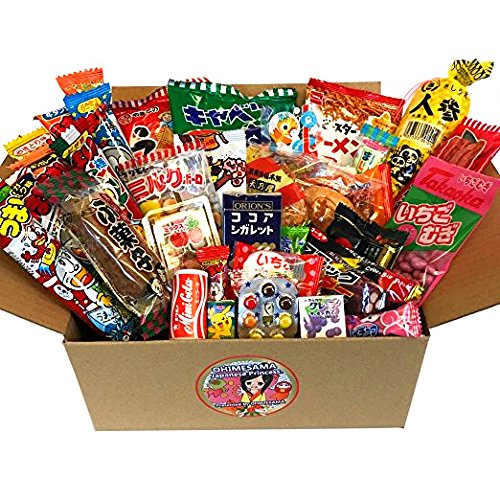 Japanese Snack Assortment 35 pcs of 27 types Full of 'DAGASHI', OHIMESAMA Snack Selection (M)