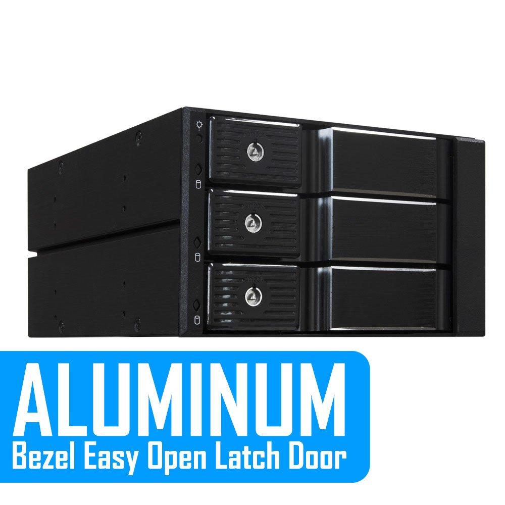 "SATA Tray-Less Hot Swap Mobile Rack for Dual 2.5/"" SSD//HDD Hard Drive Backplane Enclosure Support SATA I//II//III /& SAS I//II 6 Gbps Performance Kingwin SATA Internal Hard Drives"