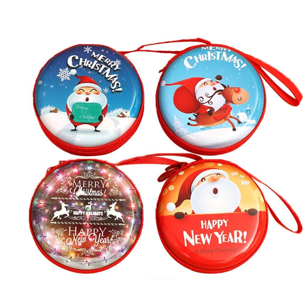 Topways®キッズミニ財布キー財布キャンディーバッグホルダージップ小銭入れおもちゃ用子供男の子女の子クリスマス新年子供ギフト4ピース   B07GVLV5G1