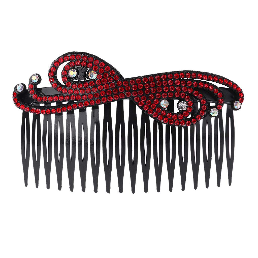 SLYlive Women Lady Plastic Rhinestone Hair Comb, Clip Slide Hairclip DIY Accessories