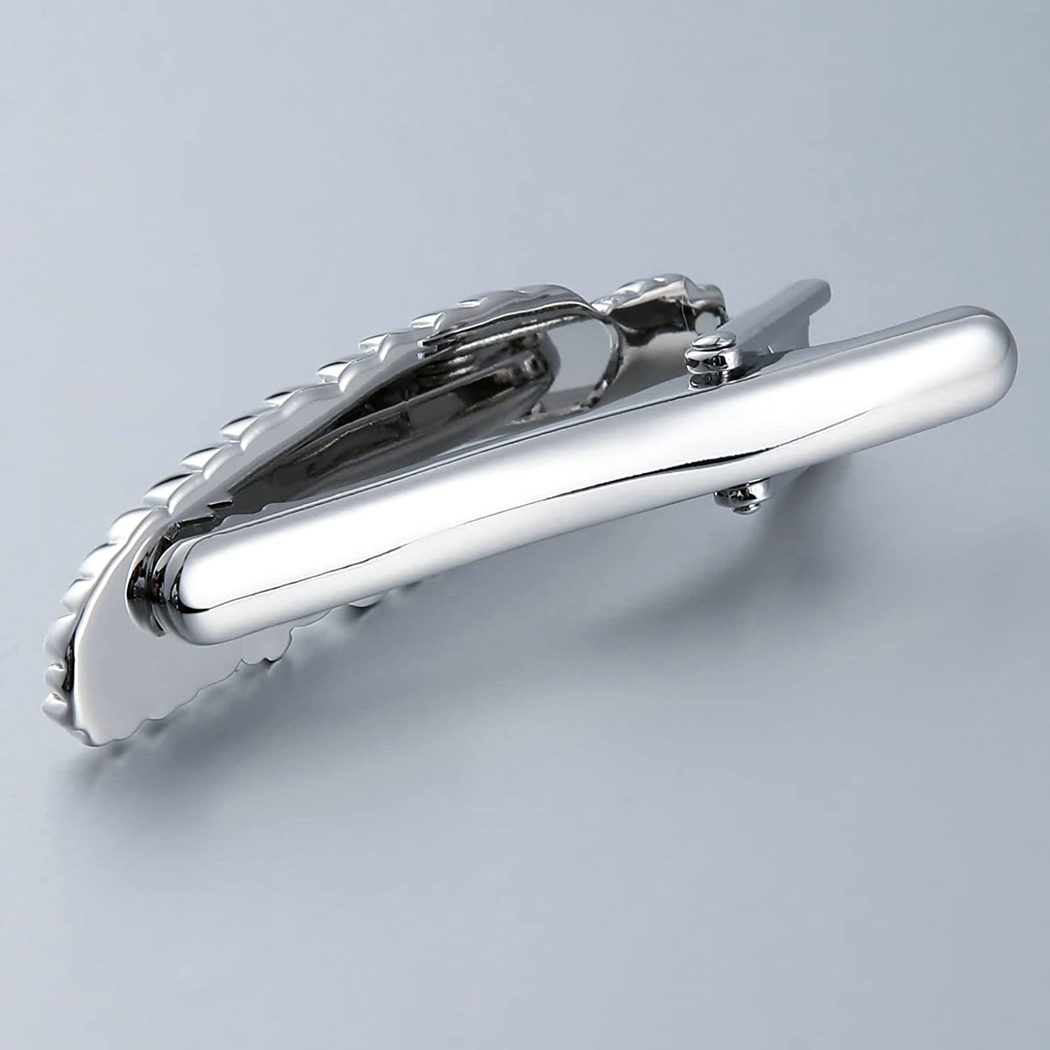 Bishilin Stainless Steel Tie Clip for Men Feather Shape Silver Business Wedding Anniversary