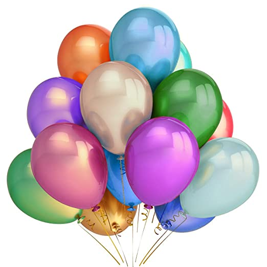 "10 x Pearl Latex Balloon yellow Balloon 5/"""
