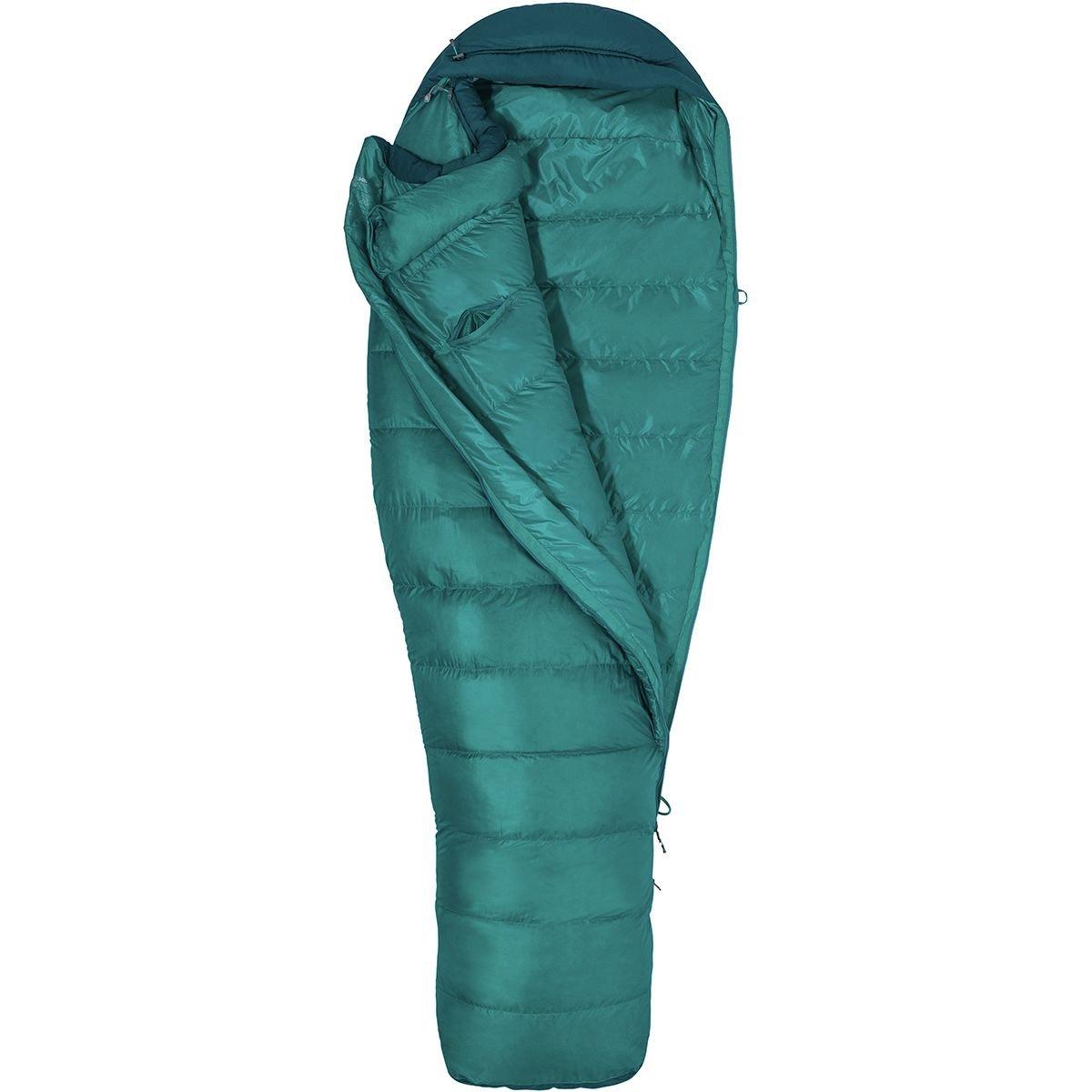 Marmot Angel Fire Sleeping Bag : 25 Degree Down – Women 's Malachite/Deep Teal, Reg/右Zip B078XG3WR1
