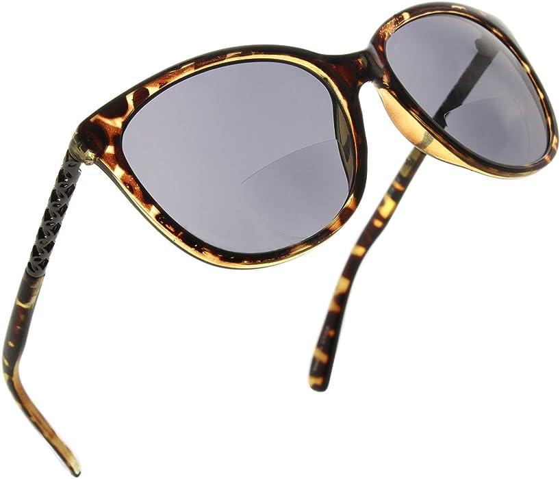 5033e381cc9b Fiore Cateye Bifocal Reading Sunglasses Readers for Women  Dark Tortoise