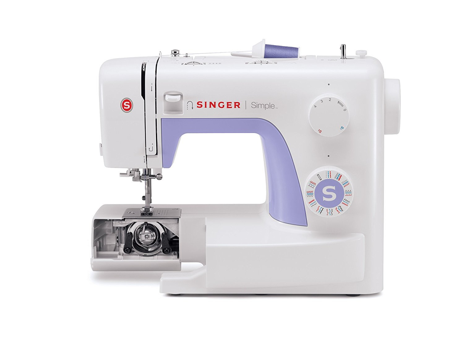 Automatic Needle Threader and Free Arm SINGER Simple 3232 Portable Sewing Machine with 32 Built-In Stitches Including 19 Decorative Stitches Best Sewing Machine for Beginners