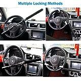 Car Lock, Car Steering Wheel Lock Universal Vehicle Truck Van SUV Auto Adjustable Anti-Theft Locking Heavy Duty Safety Hammer Self-defense Handy Tool With Emergency Hammer Window Breaker and 3 Keys