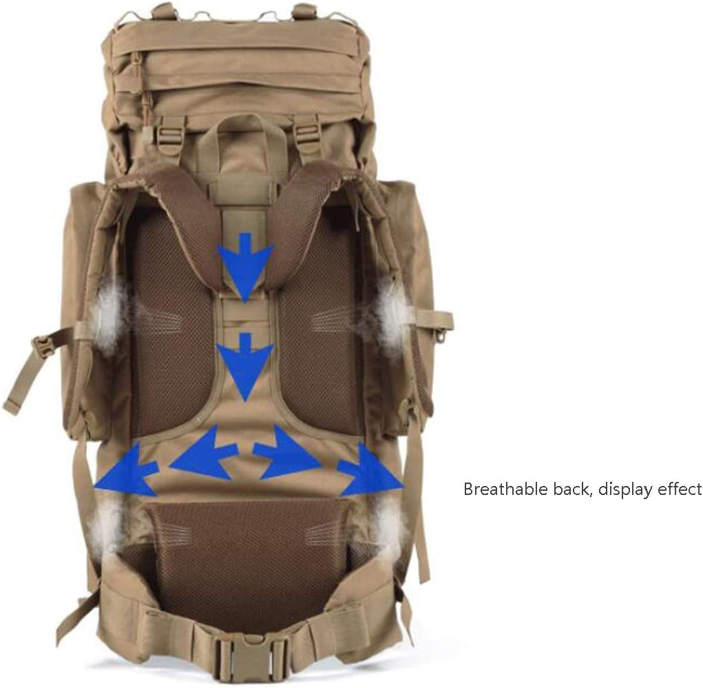 65L Latest Models Haoyushangmao Outdoor Multi-Function Waterproof Camouflage Travel Hiking Backpack Color : Camouflage Color