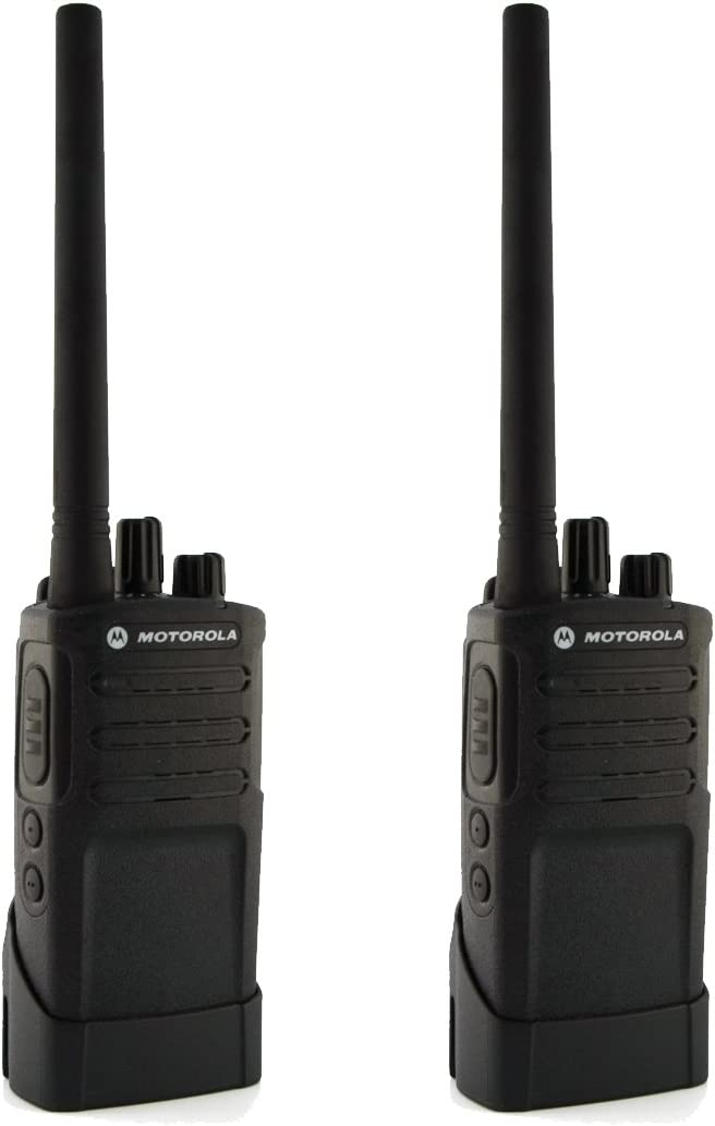 Motorola RMV2080 On-Site 8 Channel VHF Rugged Two-Way Business Radio with NOAA Black