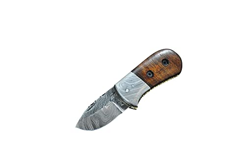 Perkin Knives Outstanding - Cuchillo de Bolsillo (pequeño, Hecho a Mano, Acero de Damasco)