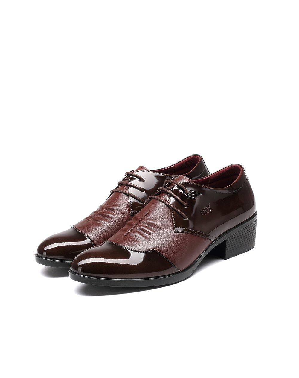 GTYMFH Leder Herrenschuhe Herrenschuhe Herrenschuhe Mode Business Anzüge Lackleder Spitze Rutschfest Lederschuhe b2442b