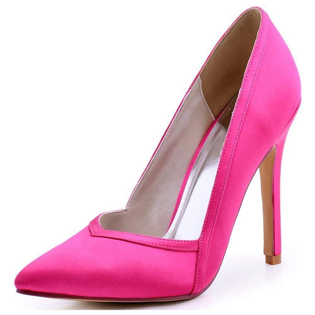 Damen Spitz Stiletto High Heel Lila Satin Hochzeit Abend Pumps UK 6 (Farbe   -, Größe   -)
