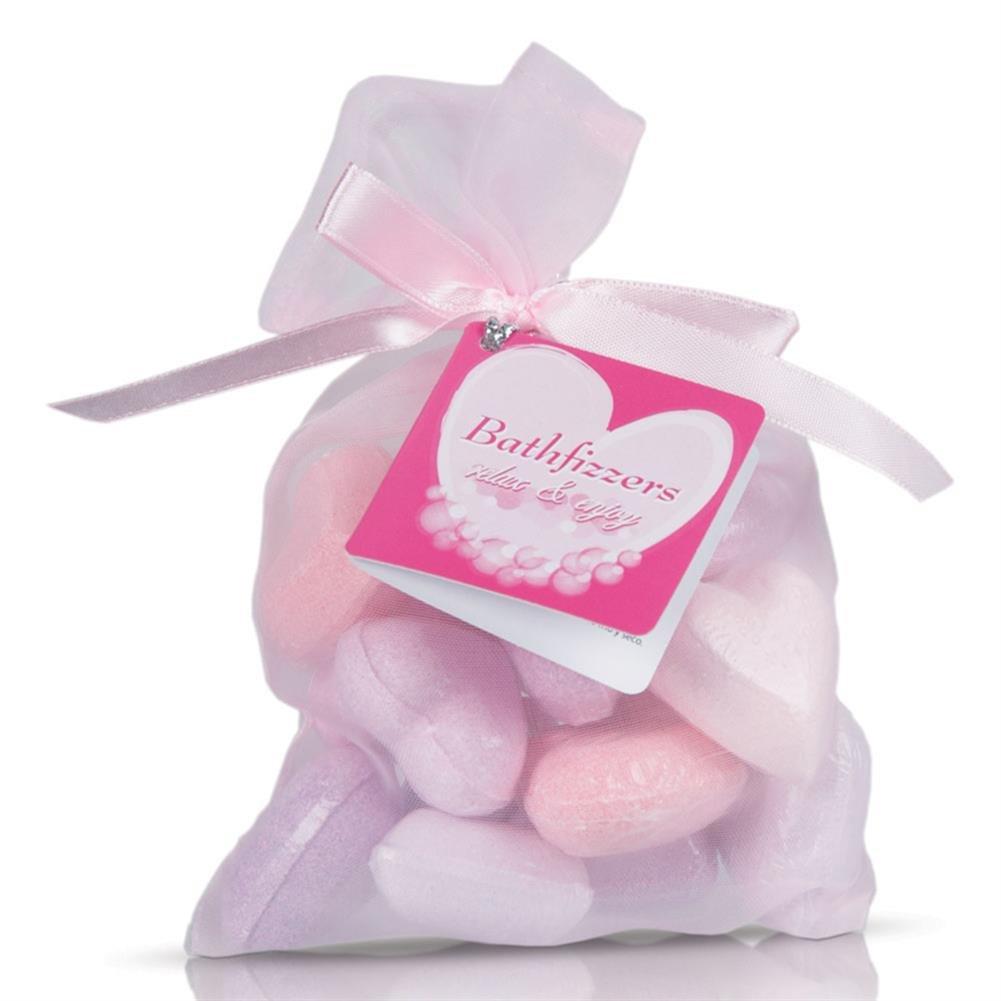 2 x 10 cœurs perles de bain dans des sacs en tissu avec des rubans Out of the Blue