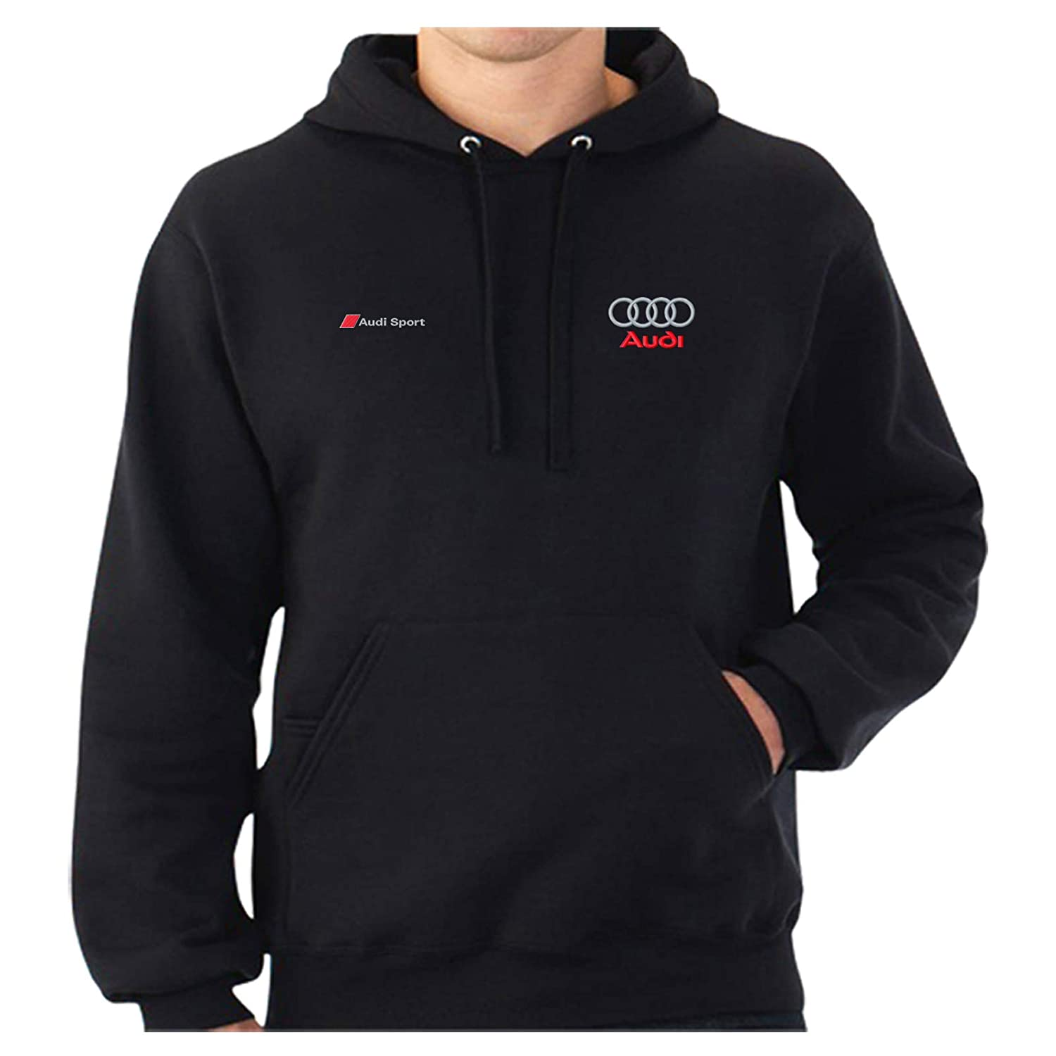 Audi Sport Logo Embroidered Classic Hoodie Work Outdoor Sport Birthday Gift