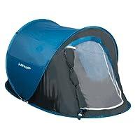 Dunlop Wurf Zelt 1 Person 220 x 120 x 90 cm blau/grau in Transporttasche