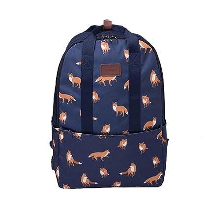 Mango King 1pc mujeres mochila moda bolsa de lona impresión mochilas Niñas Escuela Casual Mochila Escolar
