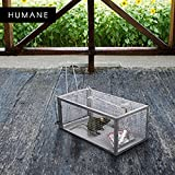 Animal Trap Cage,AutumnFall Clearance!!❤️❤️1PC Stainless Steel Rodent Animal Mouse Humane Live Trap Hamster Cage Mice Rat Control Catch Bait Durable 2018 Hot Sale (Silver)