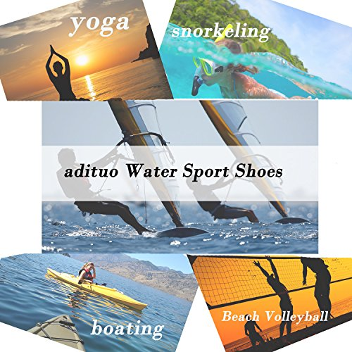 Pictures of adituo Womens Barefoot Water Shoes Aqua SocksBeach 2