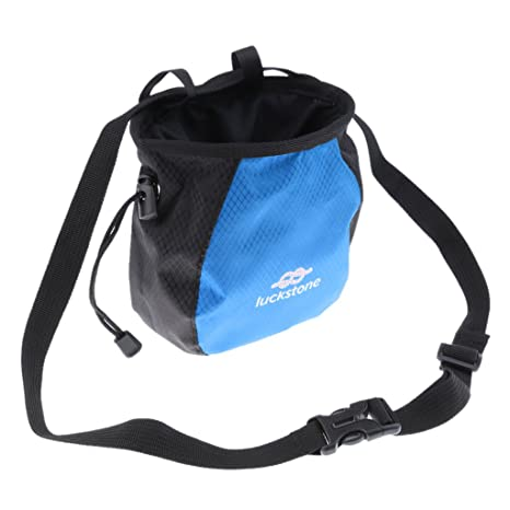 YMero Climbing Chalk Bag with Quick-Clip Belt No Leak Drawstring Bag for Climbing Weight Lifting Gymnastics
