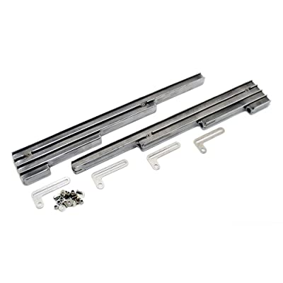 Assault Racing Products A6061-3 Small Block Chevy Finned Polished Aluminum Spark Plug Wire Looms Retro SBC: Automotive
