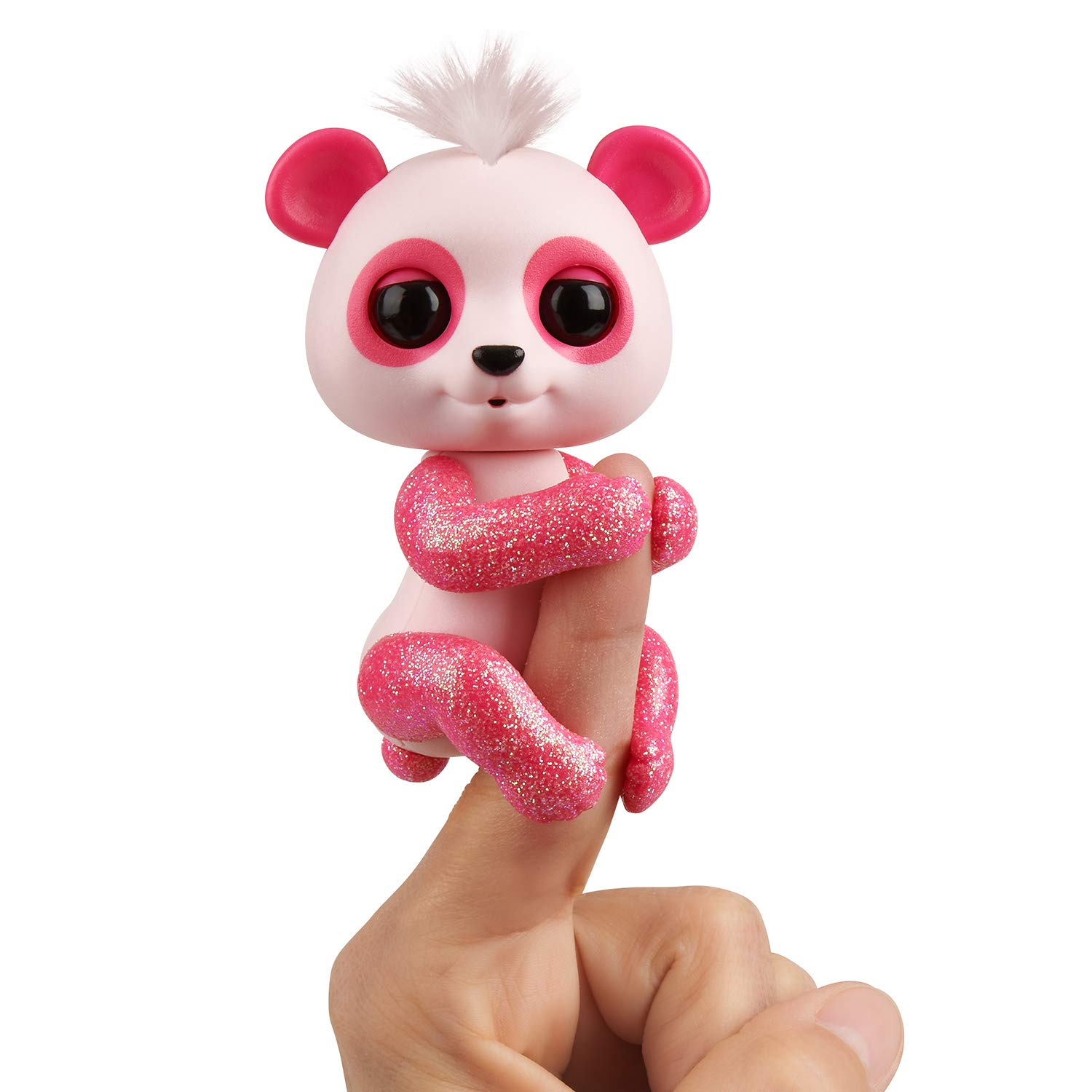 WowWee Fingerlings Glitter Panda - Polly - Interactive Collectible Baby Pet, Pink
