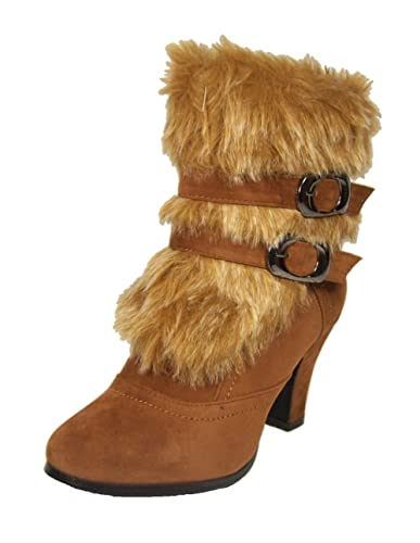af1113e49d749 Amazon.com | ANNA Nb200-08 Women's High Heel Ankle Boots With Fake ...