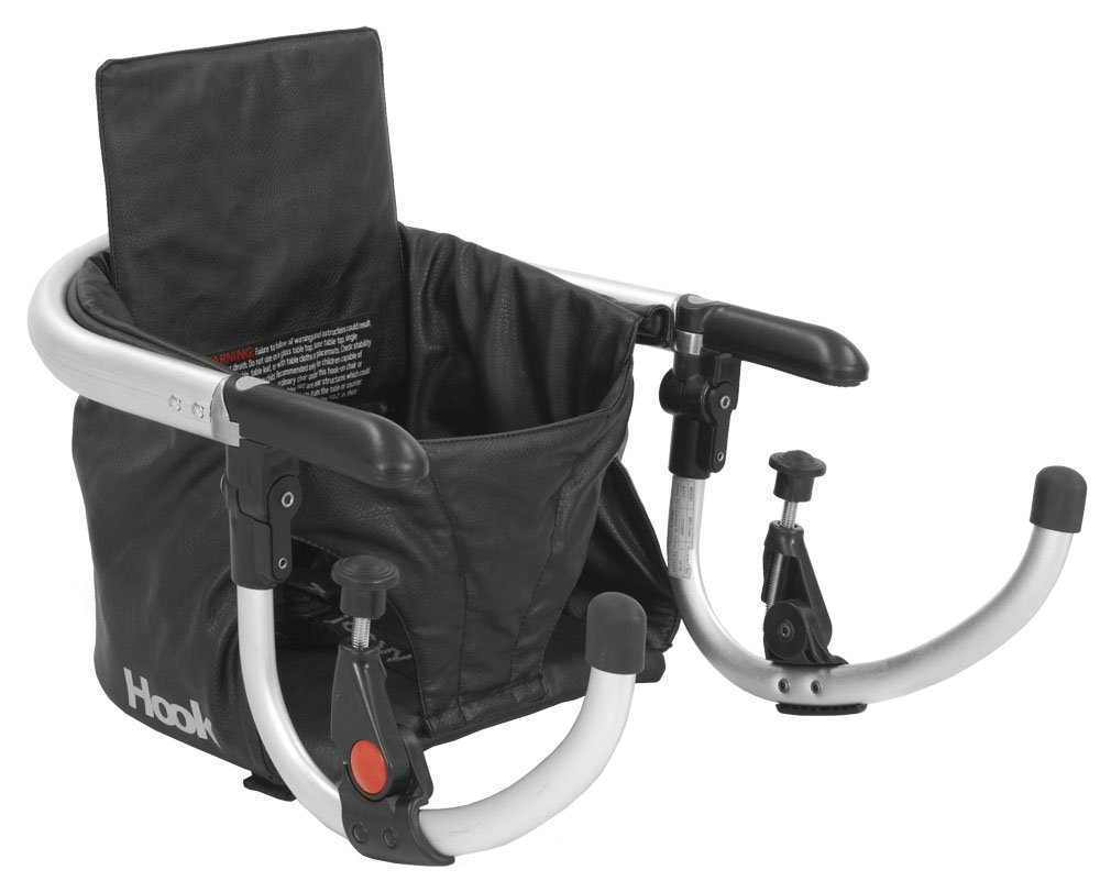 Amazon.com : Joovy Hook On Highchair, Black Leatherette : Childrens  Highchairs : Baby