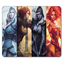 Customized Non-Slip Large Textured Surface Water Resistent Mousepad Dota 2 Lina Windrunner Drow Ranger Crystal Maiden Heroine Game Durable Large Gaming Mouse Pads Oblong Mousepad