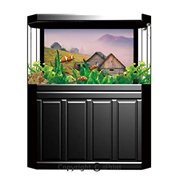 Amazon.com: Terrarium Fish Tank Background,Farm House Decor ...