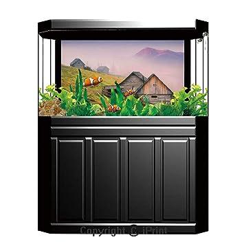 Amazon.com: Terrarium Fish Tank Background,Farm House Decor ...