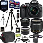 Nikon D3300 AF-P Digital SLR Camera w...