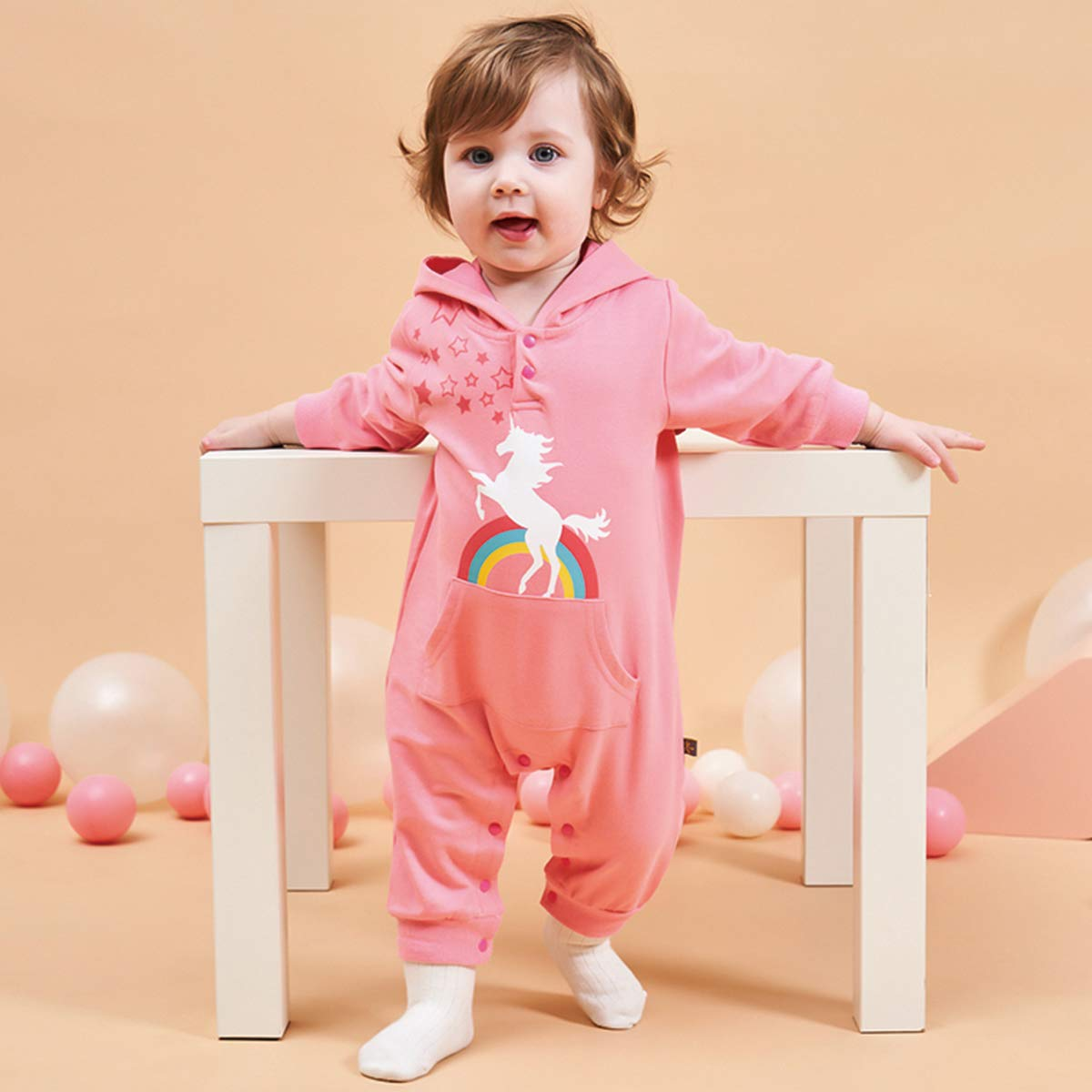 Bebone Baby Overall Jungen M/ädchen Strampler Langarm Babykleidung