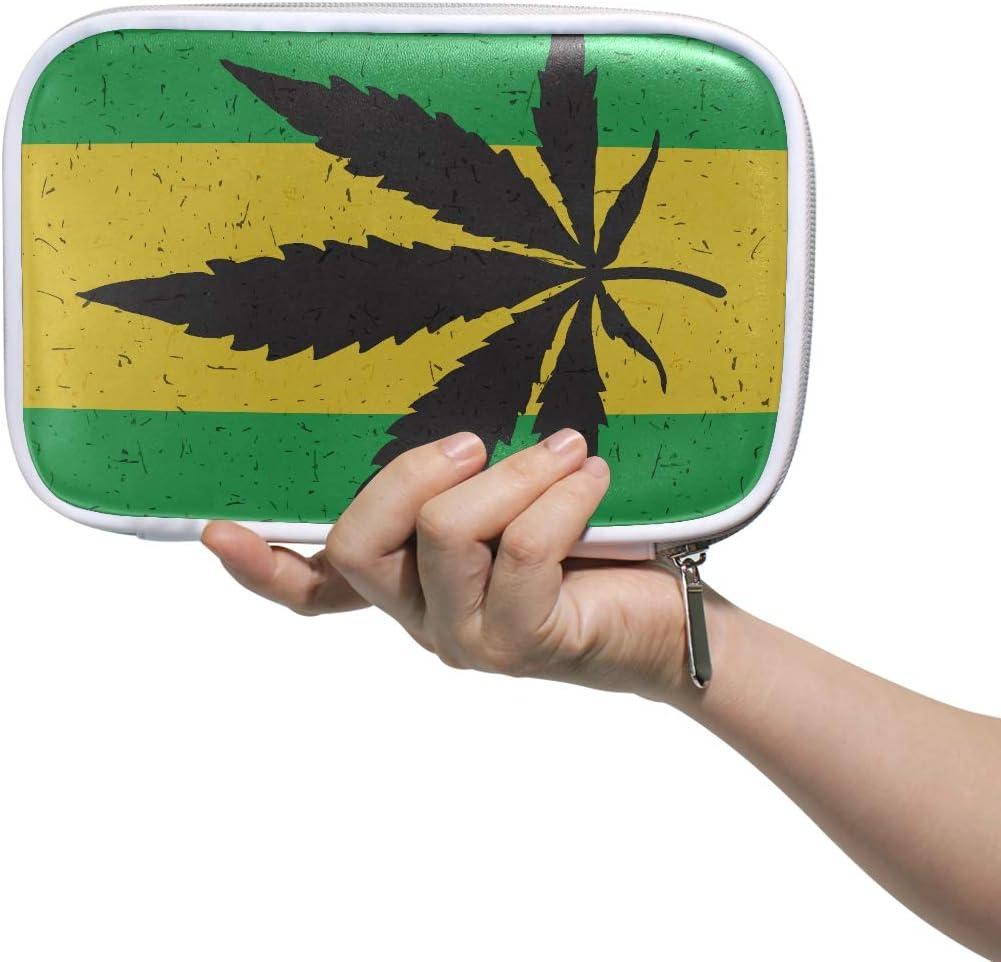 Bolso de aseo para mujer Icono de hoja de cannabis verde fresco Estuche de lápices Bolso de aseo para hombres de escuela Bolso de cosméticos multifuncional pequeño para hombres Mujeres