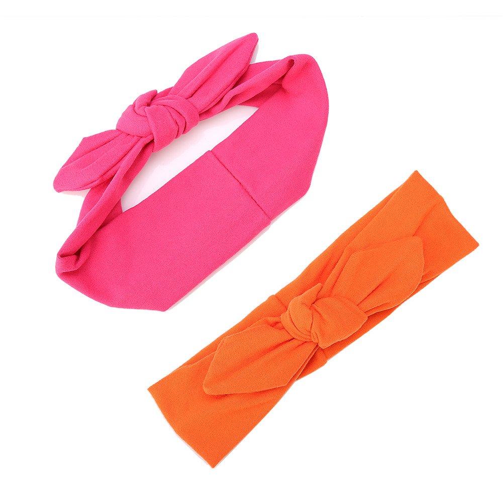 Novit/¨/¤ fasce capelli neonata cotone fascia headwrap Turbante ad arco di colore solido elastico Cerchietti cotone per Bambine Babies Set regalo