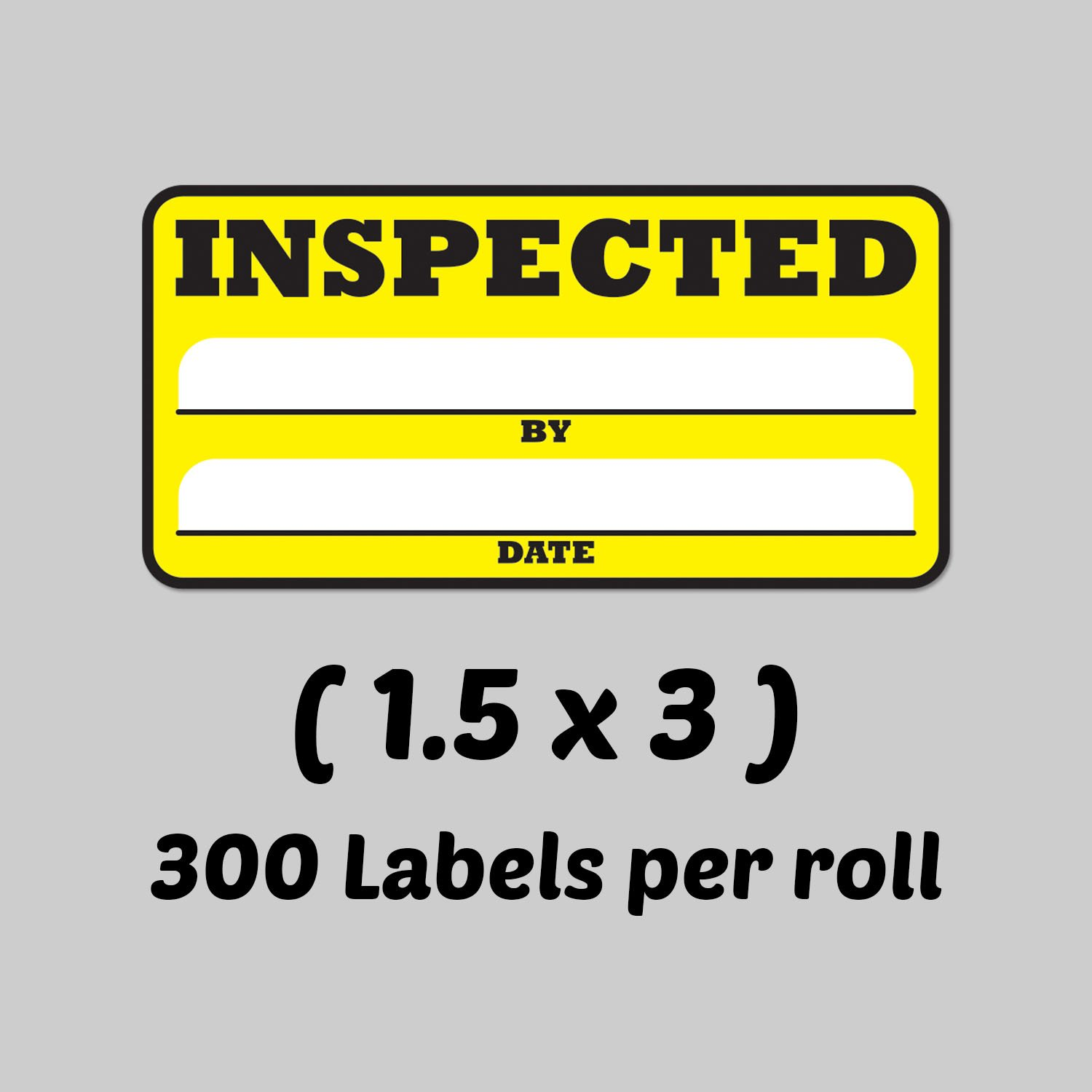Inspected by Date Special Handling Shipping Warehouse Inventory Control Pallet Yellow Stickers 2 Rolls Yellow, 2 Rolls Per Pack TUCO DEALS 1.5 x 3 Inch