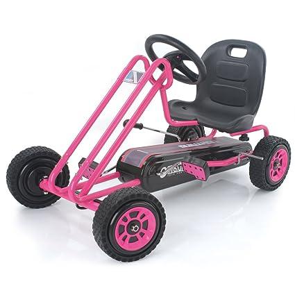 Amazon.com: Hauck Lightning Pedal Go Kart, Rosado: Toys & Games