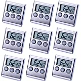 9 Pack Digital Refrigerator Freezer Thermometer,High/Low Temperature Alarms Settings