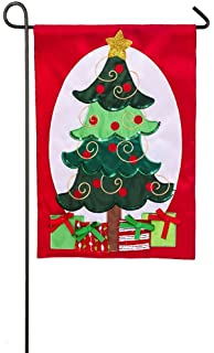 Amazoncom Evergreen Elf Surveillance Applique Garden Flag 125
