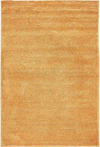 A2Z Rug Orange 5' x 7' 7 - Feet Solo Area Rug - (Square Orange Shag Rug)