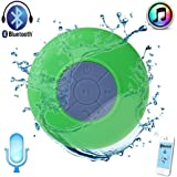 Waterproof Bluetooth Shower Speaker Hands Free Speakerphone Mini Speakers for iPhone,iPad, Cell Phone,Laptop,Xbox,Computer(Green